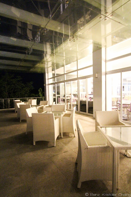 Outdoor Dining Area of the restaurant in The Oriental