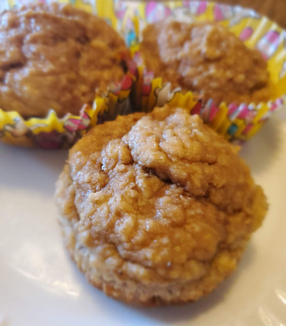 banana oatmeal muffins on a plate