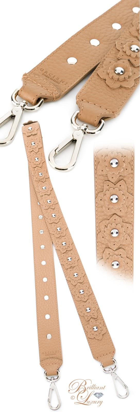 Brilliant Luxury ♦ Orciani Floral Detachable Shoulder Strap