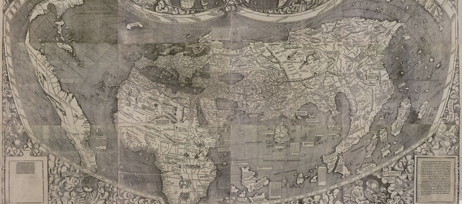 The interactive version of Vespucci and Waldseemüller's 1507 map