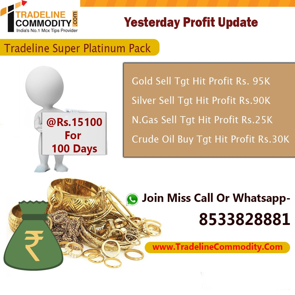 FOR ONE DAY FREE TRAIL www Tradelinecommodity Com India's No 1 Mcx