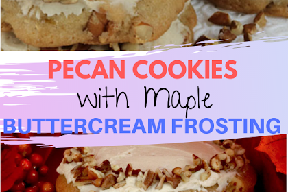 #Pecan #Cookies with #Maple #Buttercream #Frosting