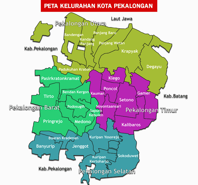Gambar Peta Kelurahan Kota Pekalongan