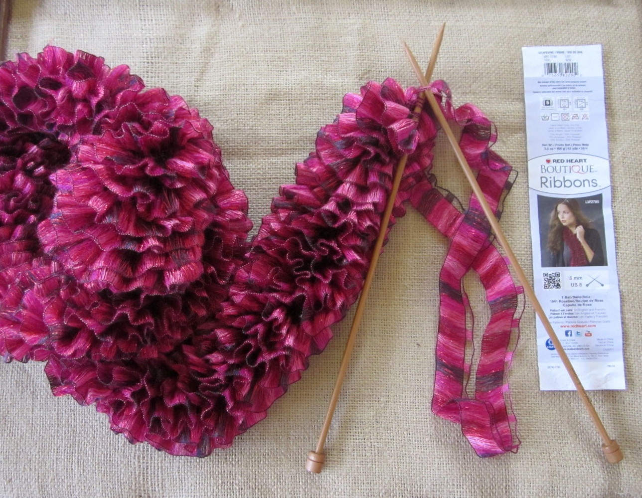 Wendylynn's Paper Whims: Red Heart Boutique Ribbons Yarn Scarf