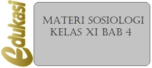 Materi Sosiologi Kelas XI BAB 4
