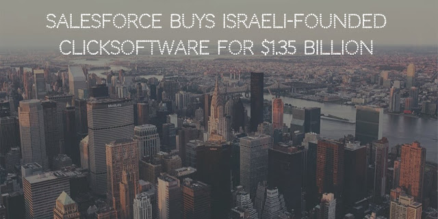 Salesforce buys Israeli-founded ClickSoftware for $1.35 Billion