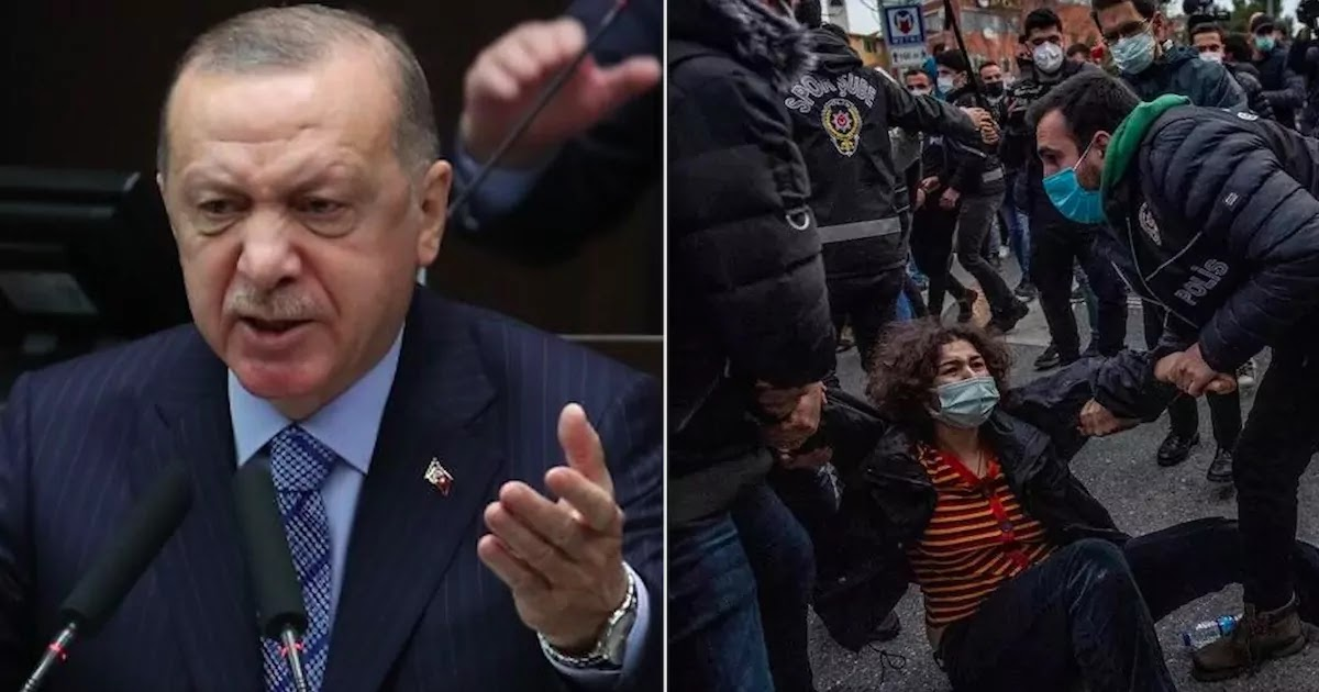 Erdogan Criticised For Denouncing LGBT Youth After Police Arrest Students And Break Up Demonstrations Across Turkey