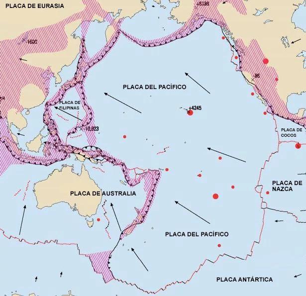 Las placas tectónicas generalmente solo se mueven en promedio unos pocos centímetros cada año, pero cuando ocurre un terremoto, se aceleran enormemente y pueden moverse varios metros por segundo.