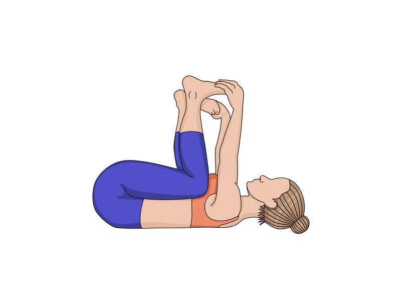 Rückenschmerzen: Diese drei Yoga-Übungen helfen - Happy Baby