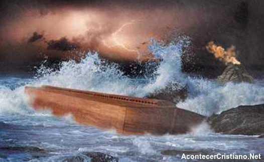 El Arca de Noé en el Diluvio