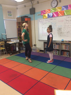 School counselor and student role played examples of what body language means.