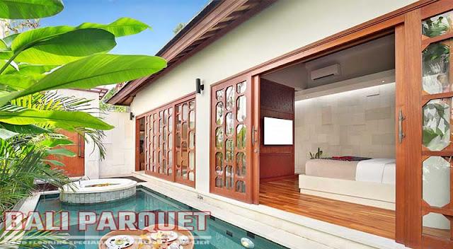 tampilan teras hunian villa asvara ubud bali