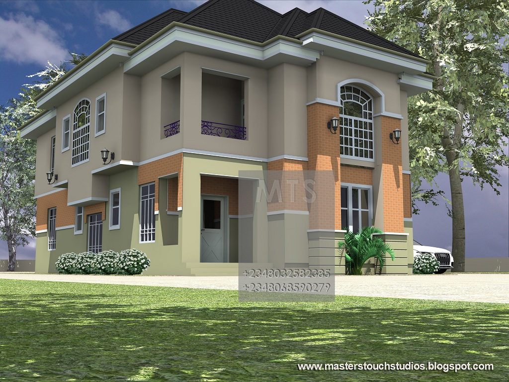 4 bedroom duplex designs in nigeria for Duplex townhouse designs