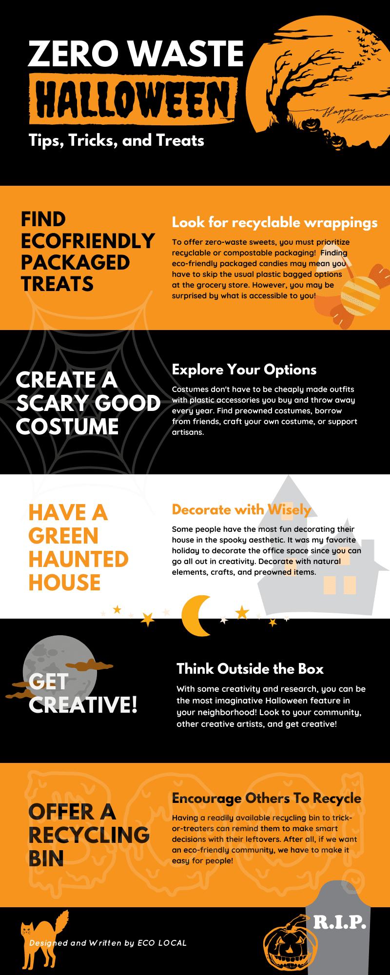 Zero Waste Halloween #infographic #Environment #Halloween #Zero Waste