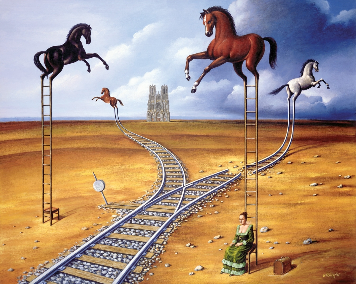 07-Horse-Railway-Rafal-Olbinski-Surreal-Paintings-that-Whisper-a-Message-www-designstack-co
