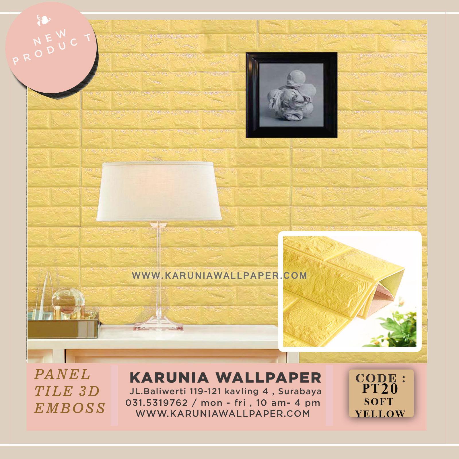 jual wallpaper timbul kuning