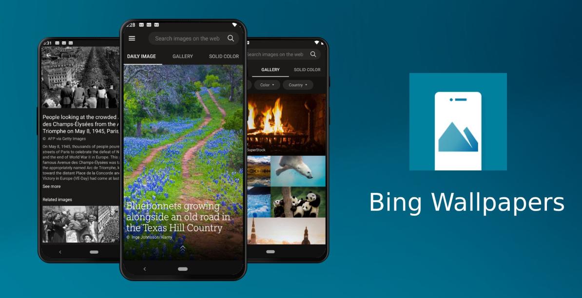 جديد تطبيقات مايكروسوفت Bing Wallpapers الذي يُقدّم خلفيات جميلة على أندرويد