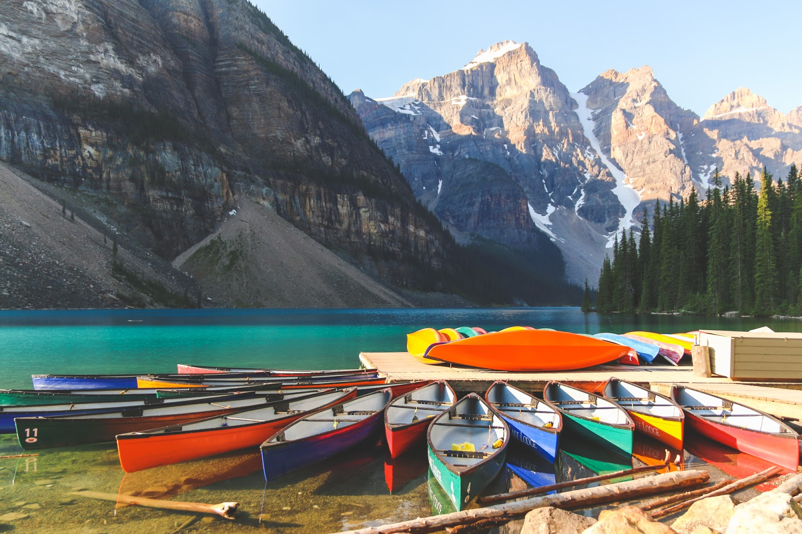 Canoeing In Moraine Lake Banff National Park The