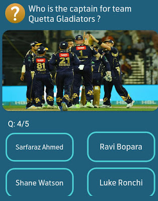 Who is the captain for team Quetta Gladiators?