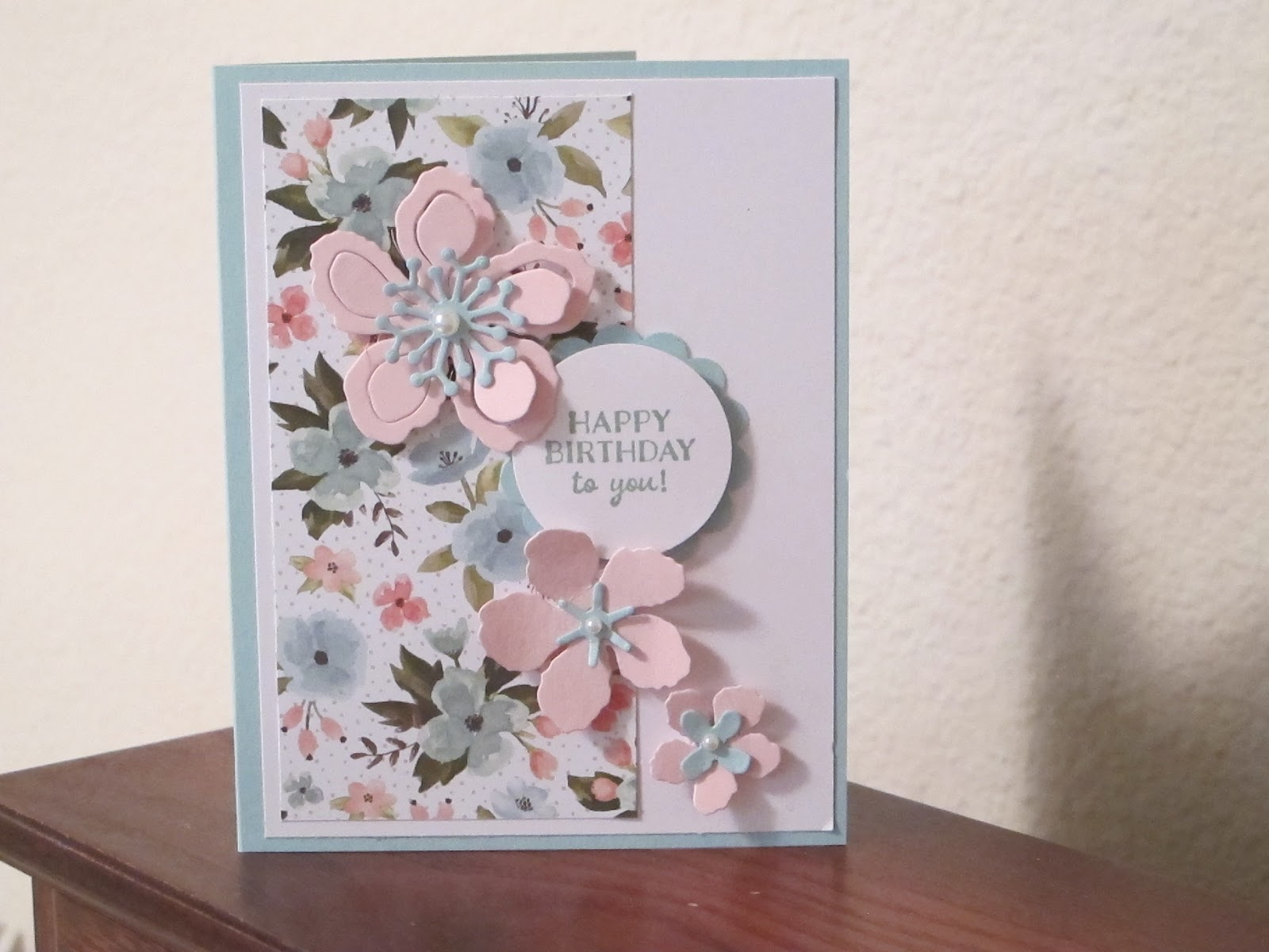 It Is A Standard 4 1 X 5 2 Inch Card Made From Mint Macaron Cut At 8 And Scored On The Long Side