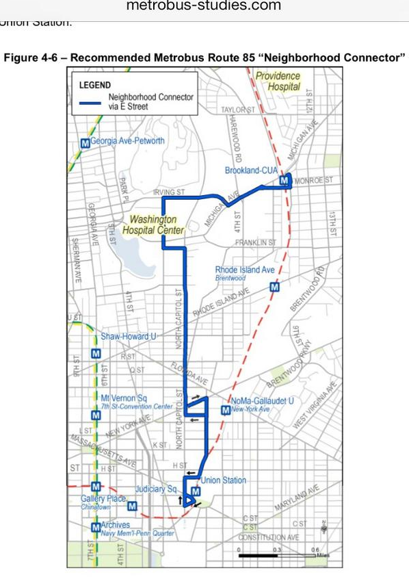 bloomingdale: proposed Metrobus 85 route would use McMillan