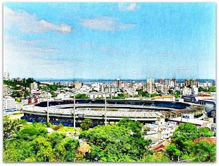 Estádio Olímpico Monumental - Vista do Cemitério João XXIII