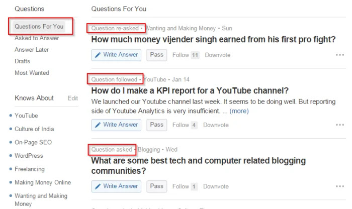 Quora Questions For You