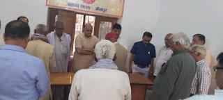 ज्वाला प्रसाद सिंह के निधन पर शोकसभा आयोजित कर दी गयी श्रद्धांजलि    #NayaSaberaNetwork