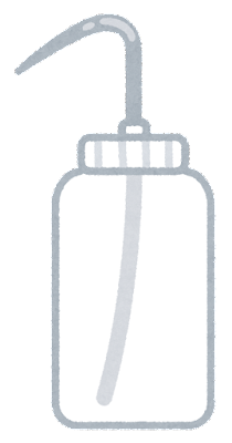 洗浄瓶のイラスト(空)