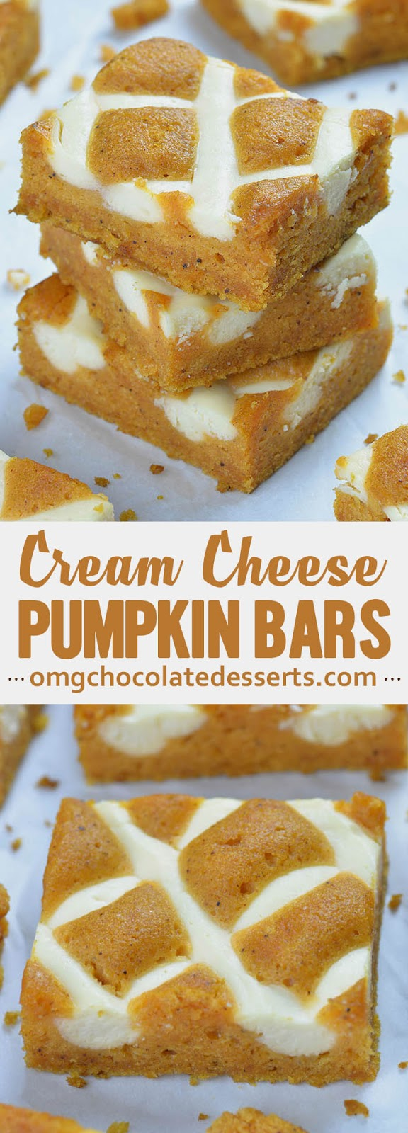 If you like these awesome Pumpkin Bars with Cream Cheese Recipe you will also like these pumpkin dessert recipes