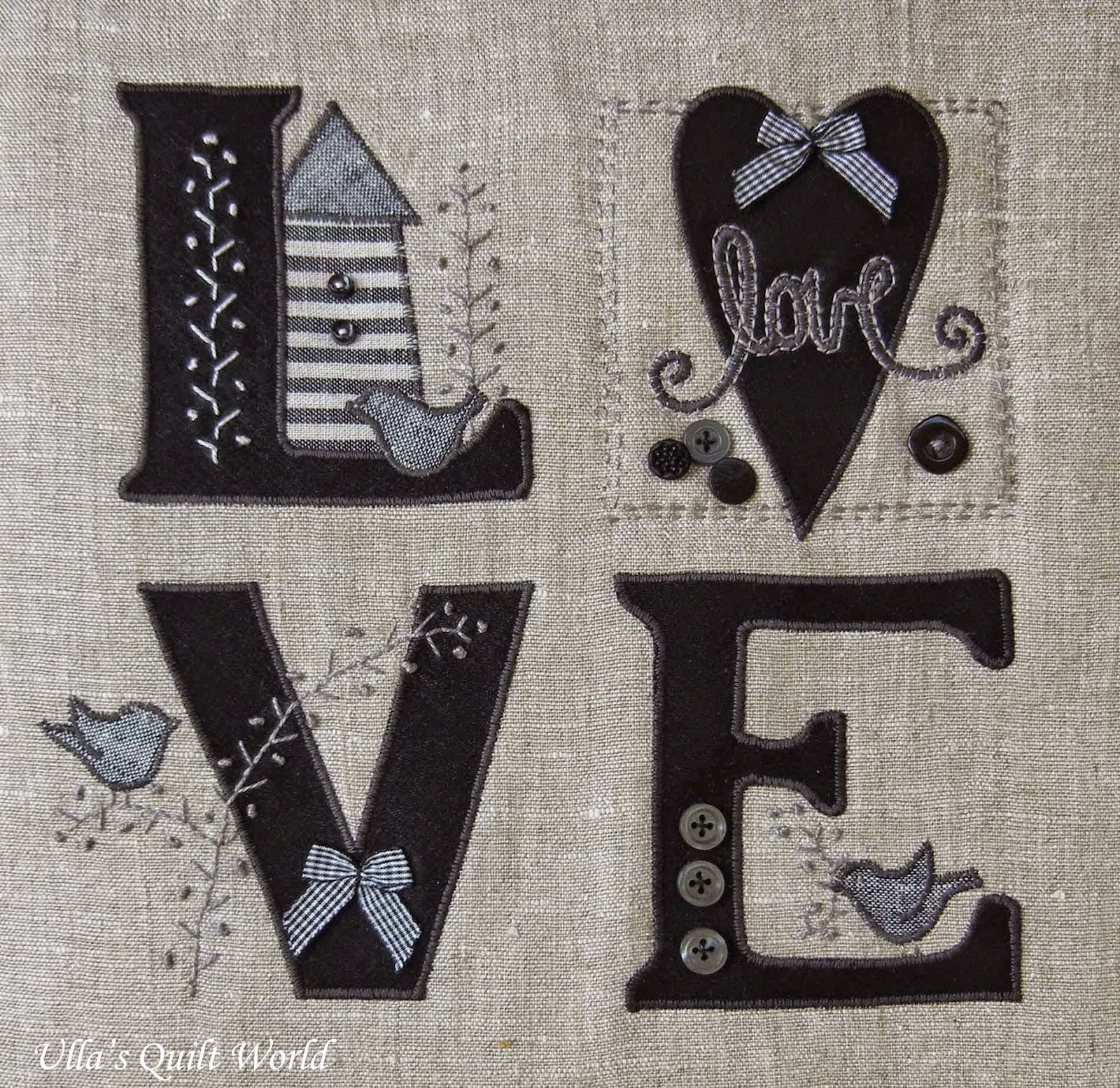 Quilt Inspiration: Free Pattern Day: L.O.V.E. Quilts