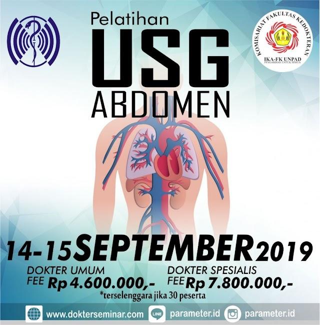Pelatihan USG Abdomen bersama PARAMETER (14-15 September 2019)