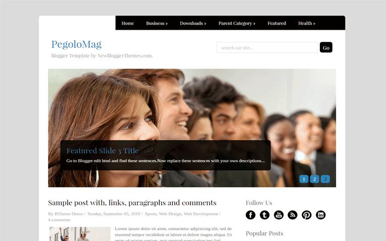 PegoloMag Free Blogger Template