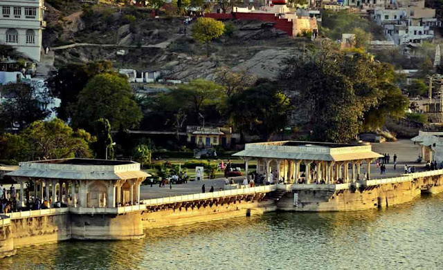 Ana sagar lake Ajmer places to visit, images,history