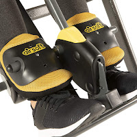 AIRSOFT cushioned ankle holders on Ironman Gravity 5000 Inversion Table, image