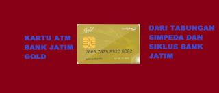 Kartu ATM bank Jatim Gold