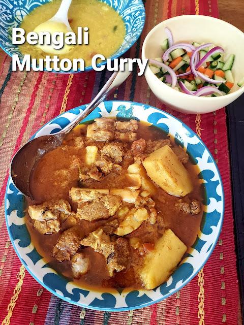 Bengali Mutton Curry, Pathar Mangshor Jhol, Sunday Mutton Curry