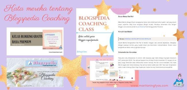 kata mereka tentang blogspedia coaching batch 1