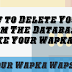 How to Delete Your Wapka Wapsite For Ever