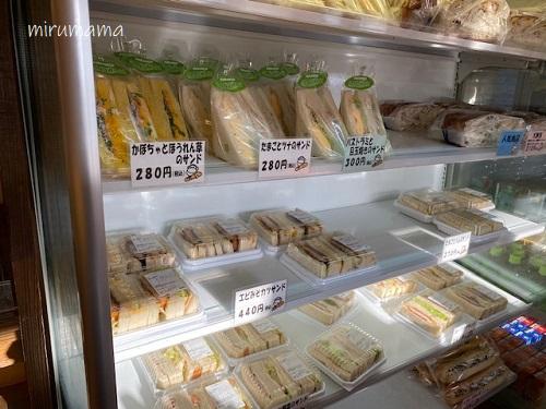 サンドイッチの陳列