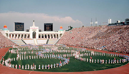 1984 summer olympics los angeles opening ceremonies