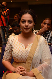 Actress Nithya Menen Pictures at 100 Days of Love Pre Release Press Meet  0159