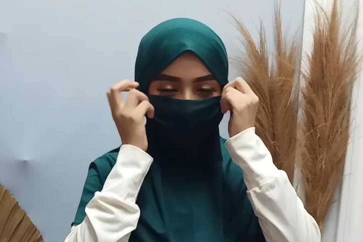 cara memakai JIlbab Niqob Instan manis dan seksi
