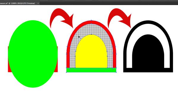 using shape builder tool to create base shape