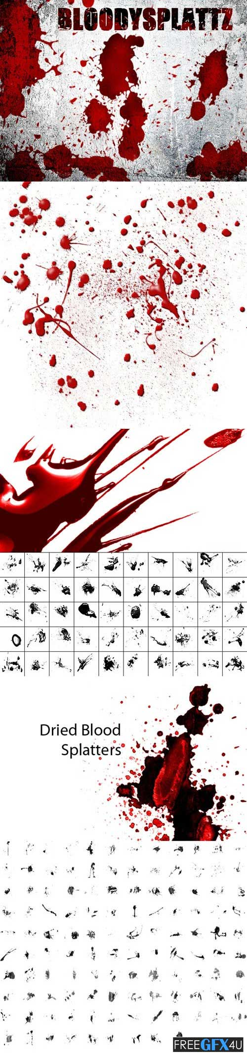 200+ Blood Brushes Collection