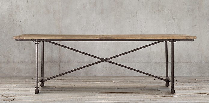 Restoration Hardware Flat Iron Table