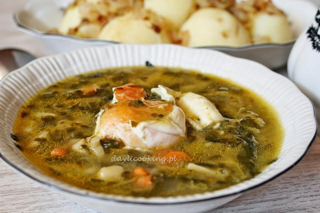 jak zrobić zupę szczawiową, przepis na zupę ze szczawiu, daylicooking