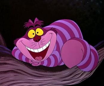 "The Cheshire Cat as depicted in Disney's 1951 ""Alice in Wonderland"""