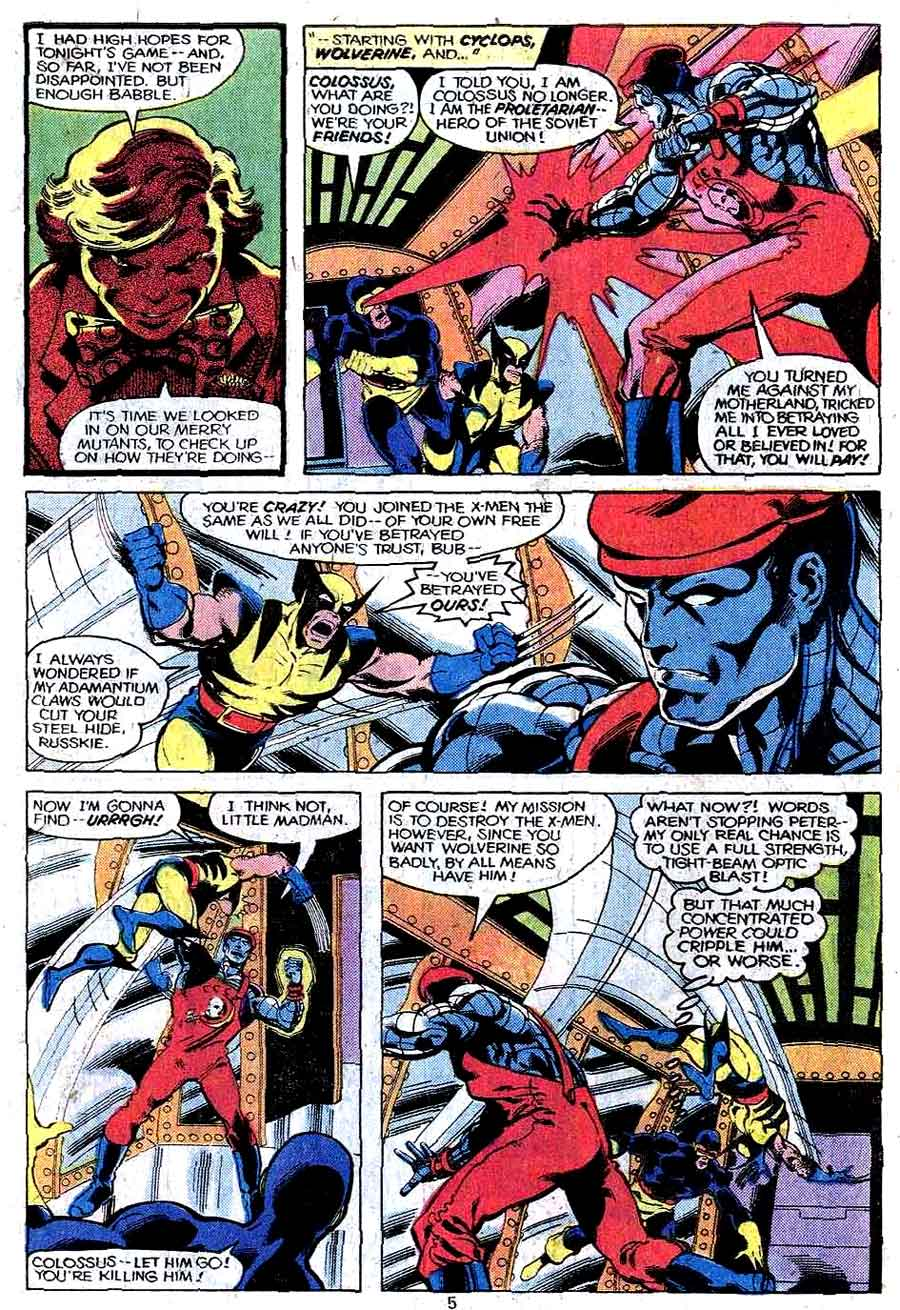 X-men v1 #124 marvel comic book page art by John Byrne