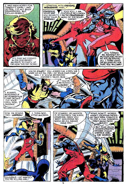 X-men v1 #124 marvel comic book page art by John Byrne